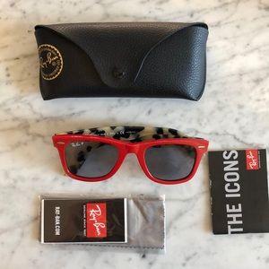 Rayban wayfarer pop sunglasses. New.